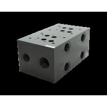 Плита для распределителей и клапанов, трехместная DUPLOMATIC MS S.p.a. EM208/3Y, CETOP 08, порты с боковой стороны