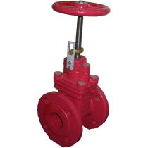 Задвижка клиновая пожарная фланцевая ABRA-A40-Ру16 Ду50--Gi-Открыто (PN16 DN50)