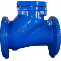 Клапан обратный шаровой чугунный фланцевый ABRA D022-NBR Ру10 Ду100 (PN10 DN100 )