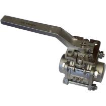 Кран шаровой под приварку с ISO-фланцем ABRA-BV61 Ру40 Ду32 (PN40 DN32)