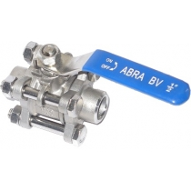 Кран шаровой полнопроходной под приварку ABRA BV61A Ру40 Ду25 (PN40 DN25)