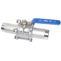 Кран шаровой полнопроходной под приварку ABRA BV61L Ру 40 Ру40 Ду65 (PN40 DN65)