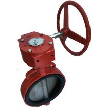 Затвор поворотный дисковый межфланцевый ABRA BUV-VF866D Ру16 Ду250MR (PN16 DN250)