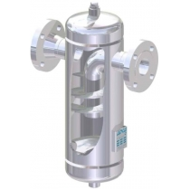 Сепаратор для пара и сжатого воздуха из нержавеющей стали резьбовой ADCA S25SS Ру16 Ду3/4 (PN16 DN20)