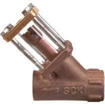 Стекло смотровое боросиликатное с обратным клапаном в бронзовом корпусе ADCA SCK Ру10 Ду1/2 (PN10 DN15 )