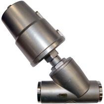 Клапан пневматический из нержавеющей стали под сварку АСТА-Р12-020-9,5O-M-16-04-200-C/ПП50 (НЗ) DN20 PN16