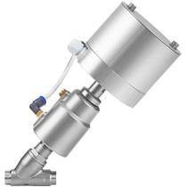 Клапан пневматический с позиционером из нержавеющей стали под сварку АСТА-Р12-065-82,6Л-М-16-04-200-С/ППП-90 (НЗ)-ЭП DN65 PN16