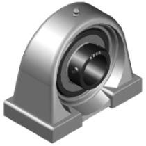 Высокотемпературный подшипниковый узел стационарный BECO UCPA205 BHTS ZZ 280°С