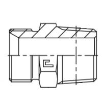 Фитинг-переходник CAST S.p.A. 300407, G1/2-NPT 1/2, 225 бар