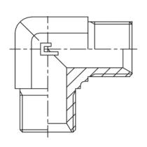 Фитинг-соединитель угловой CAST S.p.A. 302402, G1/4, 400 бар