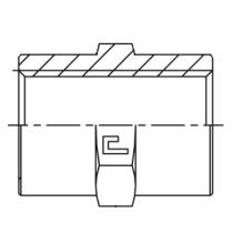 Фитинг-соединитель CAST S.p.A. 301202, G1/4, 350 бар