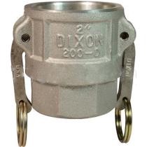 Розетка с внутренней резьбой типа D алюминиевая Dixon DAL200DB 2