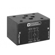 Клапан обратный модульного исполнения DUPLOMATIC MS S.p.a. MVR1-SB/51, CETOP 03, 350 бар, обратный клапан на магистрали B
