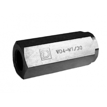 Клапан обратный DUPLOMATIC MS S.p.a. VD2-W2/30, трубный монтаж, 400 бар, расход 25 л/мин