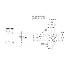 Плита стальная для клапана КТ08 в канале B DUPLOMATIC MS S.p.a. KTM3-SB/10N