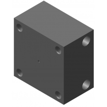 Плита-переходник алюминиевая DUPLOMATIC MS S.p.a. PSP-G1/4_1950920, G1/4, для PSP
