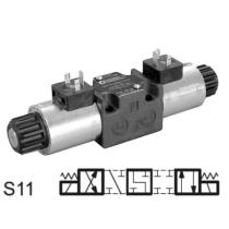 Распределитель гидравлический DUPLOMATIC MS S.p.a. DS3-S11/10N-A00, CETOP 03, 90 л/мин, 350 бар, под катушки переменного тока