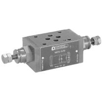 Дроссель модульный DUPLOMATIC MS S.p.a. MERS-RD/50, CETOP 03, 350 бар, управление путем изменения расхода рабочей жидкости на входе в магистрали A и B