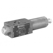 Клапан редукционный трехлинейный прямого действия, модульного исполнения DUPLOMATIC MS S.p.a. MZD2/M/50, CETOP 03, регулировочная ручка SICBLOC