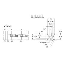 Плита стальная для 2-х клапанов КТ08 DUPLOMATIC MS S.p.a. KTM3-D/10N, в каналах А и В электрогидрозамки