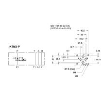 Плита стальная для клапана КТ08 в канале Р DUPLOMATIC MS S.p.a. KTM3-P/10N