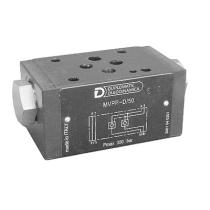 Клапан обратный с пилотным управлением DUPLOMATIC MS S.p.a. MVPP-D/50, СЕТОР 03, 350 бар, гидрозамок в магистралях A и B
