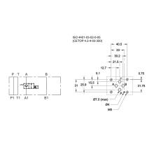 Плита для клапана КТ08 в канале А DUPLOMATIC MS S.p.a. KTM3-SA/10N