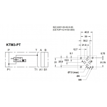 Плита стальная для клапана КТ08 между каналами Р-Т DUPLOMATIC MS S.p.a. KTM3-PT/10N, для разгрузки