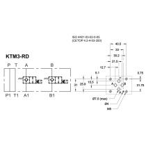 Плита стальная  для 2-х клапанов КТ08 в каналах А и В DUPLOMATIC MS S.p.a. KTM3-RD/10N