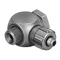 Штуцер ниппельный угловой с накидной гайкой Festo LCK-1/4-PK-6