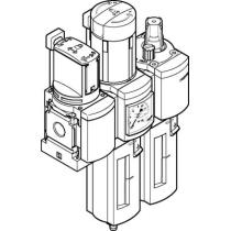 Блок подготовки воздуха, комбинация Festo MSB4-1/4:C3J1M1-WP