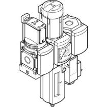 Блок подготовки воздуха, комбинация Festo MSB6-1/2:C3J2F3-WP