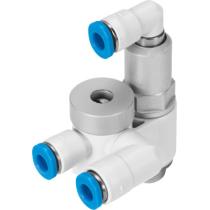 Дроссель с обратным клапаном Festo GRXA-HG-1/8-QS-4