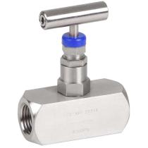 Клапан запорный игольчатый резьбовой из нержавеющей стали Genebre 2225-02 DN8 PN410