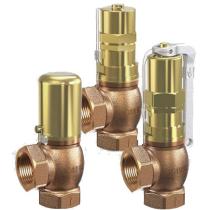 Клапан перепускной бронзовый резьбовой Goetze 618-sGFO-DN50-f/f-50/50-NBR-0,2/0,8