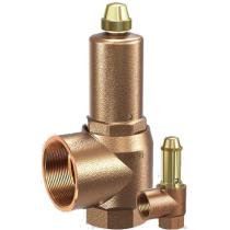 Клапан предохранительный мембранный бронзовый резьбовой Goetze 651-mHNK-DN50-f/f-50/65-EPDM