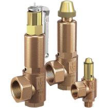 Клапан предохранительный латунный резьбовой Goetze 851-sGFK-Ду20-BSP-Tm/f-20/20-EPDM (PN50 DN20 )
