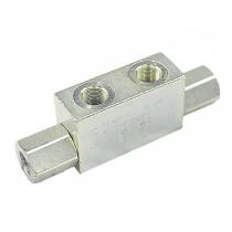 Гидрозамок трубного монтажа Hydronit S.r.l. VRDE-03-F, сдвоенный, 45 л/мин, 300 бар, 1:4