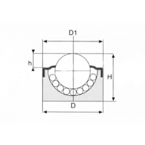 Шариковая опора SP 12 S(2) ISB