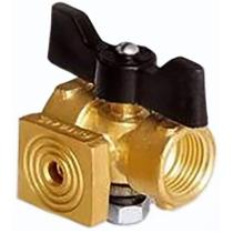 Кран шаровой латунный 3-х ходовый фланцевый Ду15 Ру16 (DN15 PN16) 11Б18/38бк