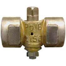 Кран шаровой латунный 3-х ходовый Ду15 Ру16 (DN15 PN16) 11Б18/38бк