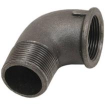 Угольник чугунный Ду25 (DN25) 90-2-25 муфта-штуцер