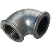 Угольник чугунный оцинкованный Ру16 Ду15 (PN16 DN15) 90-1-15