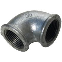 Угольник чугунный оцинкованный Ру16 Ду20 (PN16 DN20) 90-1-20