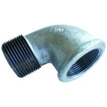 Угольник чугунный Ду15 (DN15) 90-2-15 оцинкованный, муфта-штуцер