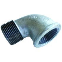 Угольник чугунный Ду20 (DN20) 90-2-20 оцинкованный, муфта-штуцер