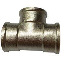 Тройник никелированный Ру16 Ду32 (PN16 DN32)
