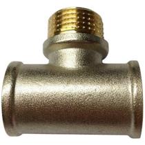 Тройник никелированный Ру16 Ду15 (PN16 DN15)