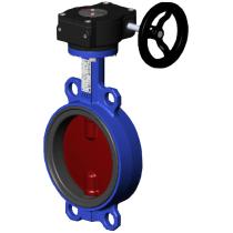 Затвор чугунный с чугунным диском и уплотнением Tecofi Ду150 Ру16 (DN150 PN16) VPI4448-08