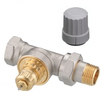 Клапан угловой для однотрубной насосной системы отопления Danfoss RA-G Ду15 013G7023